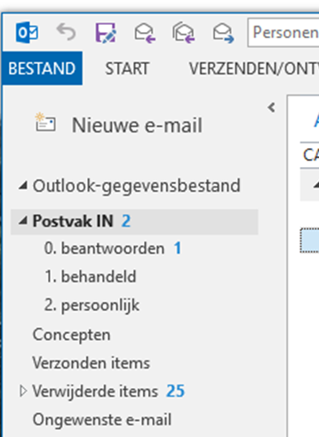 E-mail ordeing in Outlook
