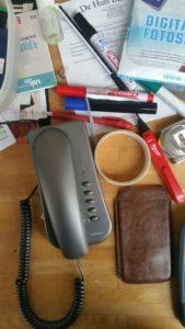 verstoring door rommel op bureau